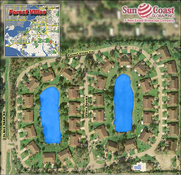 Forest Villas Overhead Map