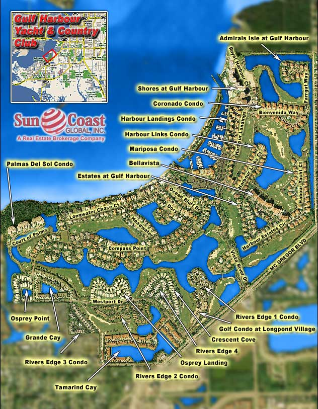 Gulf Harbour Overhead Map