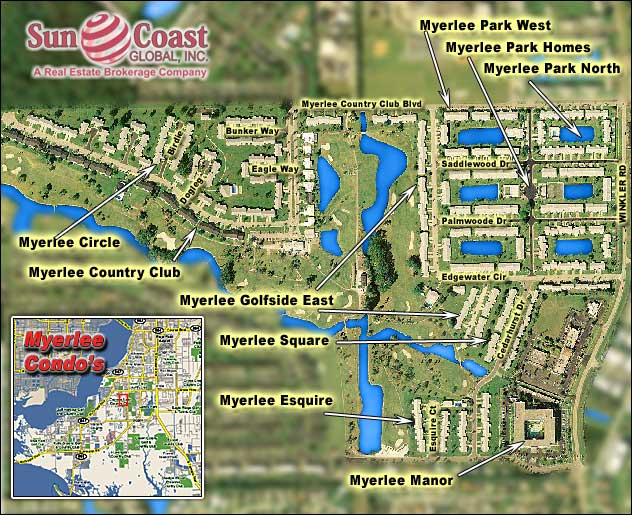 Myerlee Country Club Overhead Map