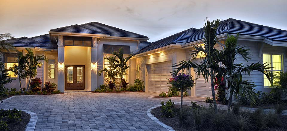 Amelia Model Home in Hidden Harbor Estates, Fort Myers, Stock Construction