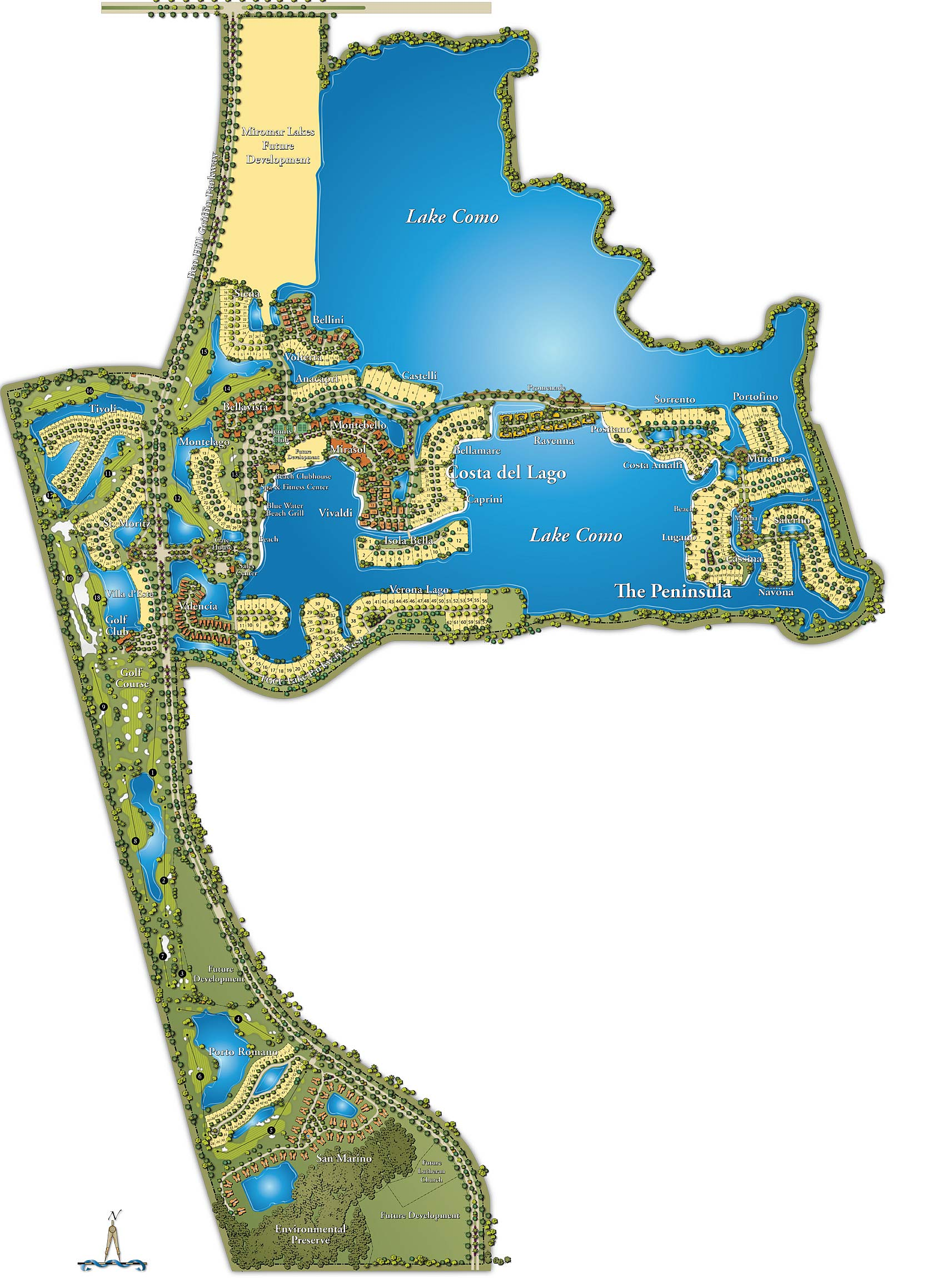 miromar lakes florida map