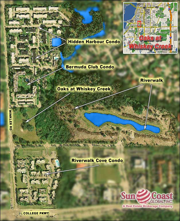 Oaks At Whiskey Creek Overhead Map