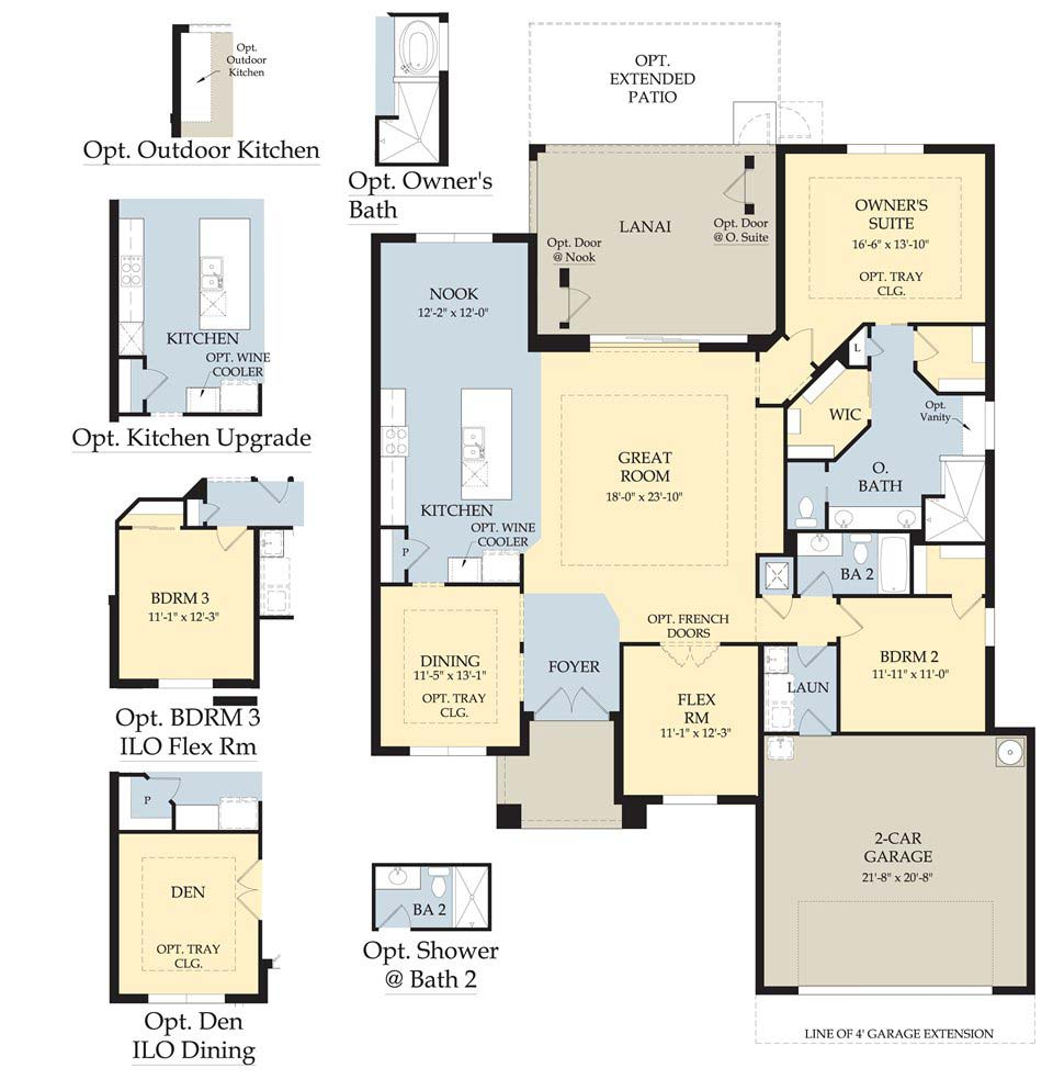 Barrington Floor Plan in Somerset at The Plantation, Fort Myers by Pulte