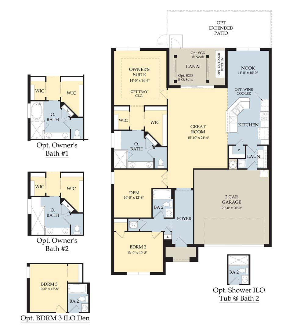 Bellington II Floor Plan in Somerset at The Plantation, Fort Myers by Pulte