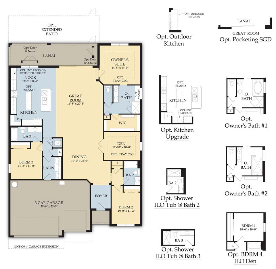 Cameron Floor Plan in Somerset at The Plantation, Fort Myers by Pulte