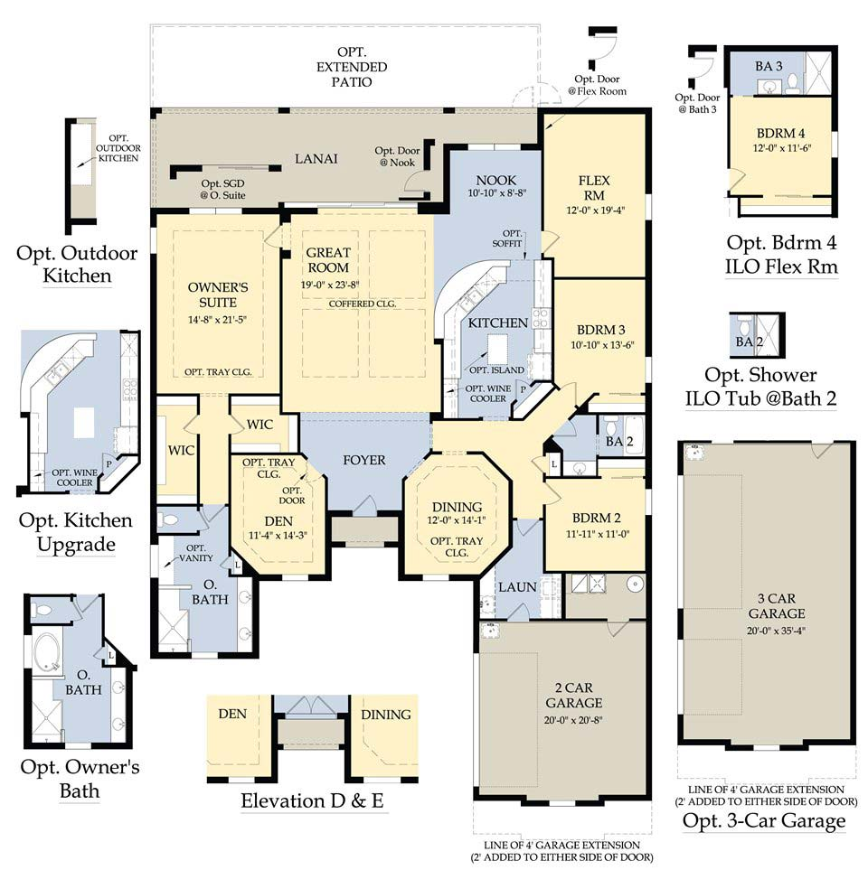 SINGLE FAMILY HOMES at SOMERSET AT THE PLANTATION Real Estate FORT – Pulte Homes Ranch Floor Plans