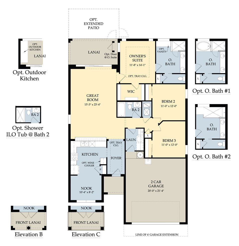 Mackenzie II Floor Plan in Somerset at The Plantation, Fort Myers by Pulte