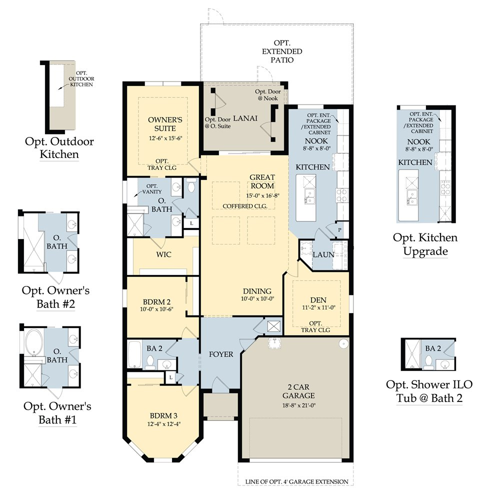 Vanderbilt II Floor Plan in Somerset at The Plantation, Fort Myers by Pulte