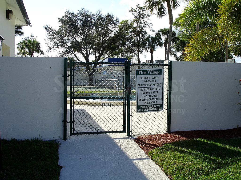 The Village Condominiums Community Pool Safety Fence