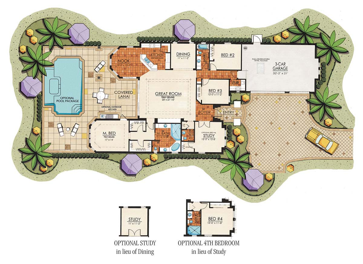 Covered Lanai House Plans House And Home Design