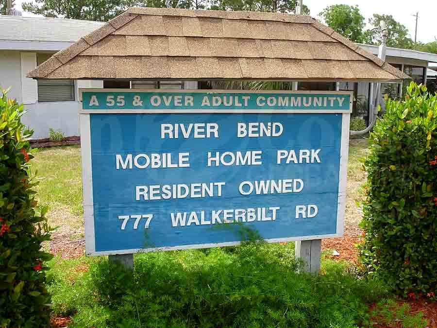 RIVERBEND MOBILE HOME PARK Signage
