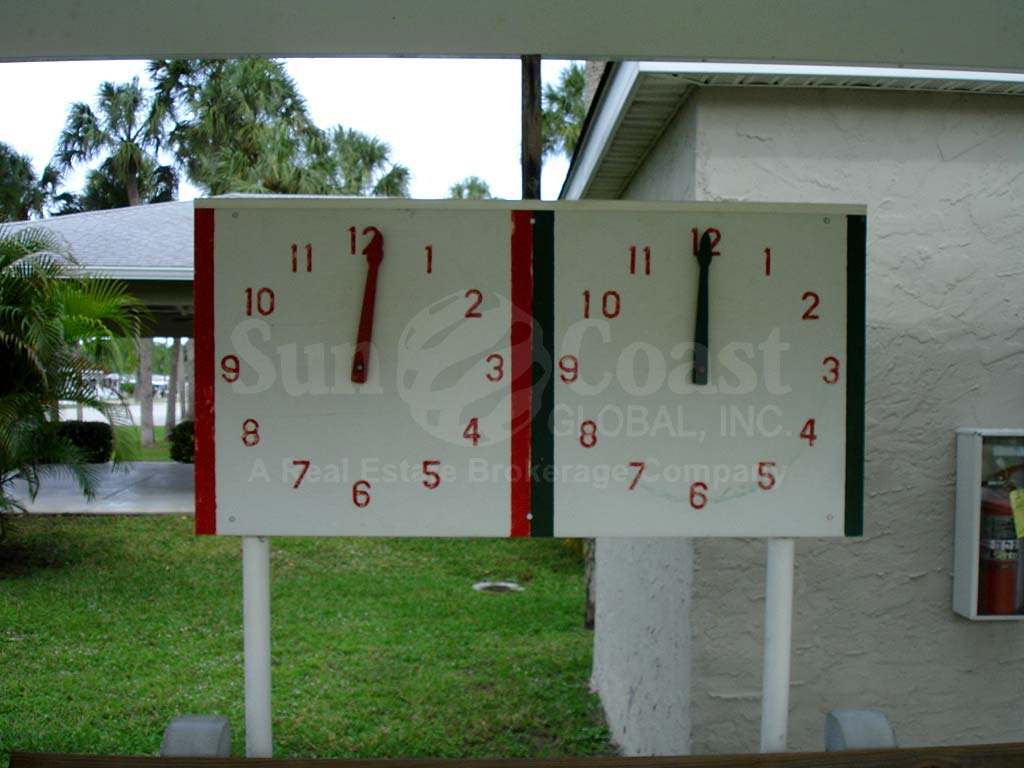 Forest Park Shuffleboard Time Clocks