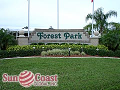 Forest Park Community Sign