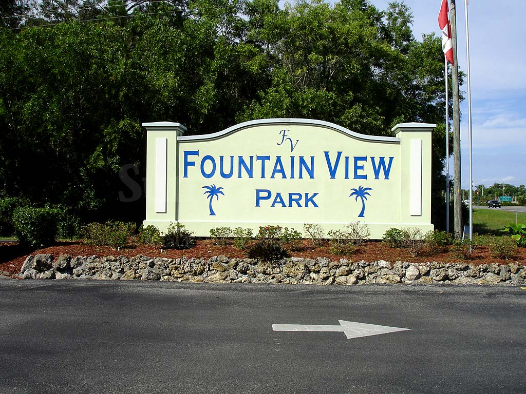 Fountain View Rv Resort Signage