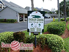 Indian Creek Golf Villas Community Sign
