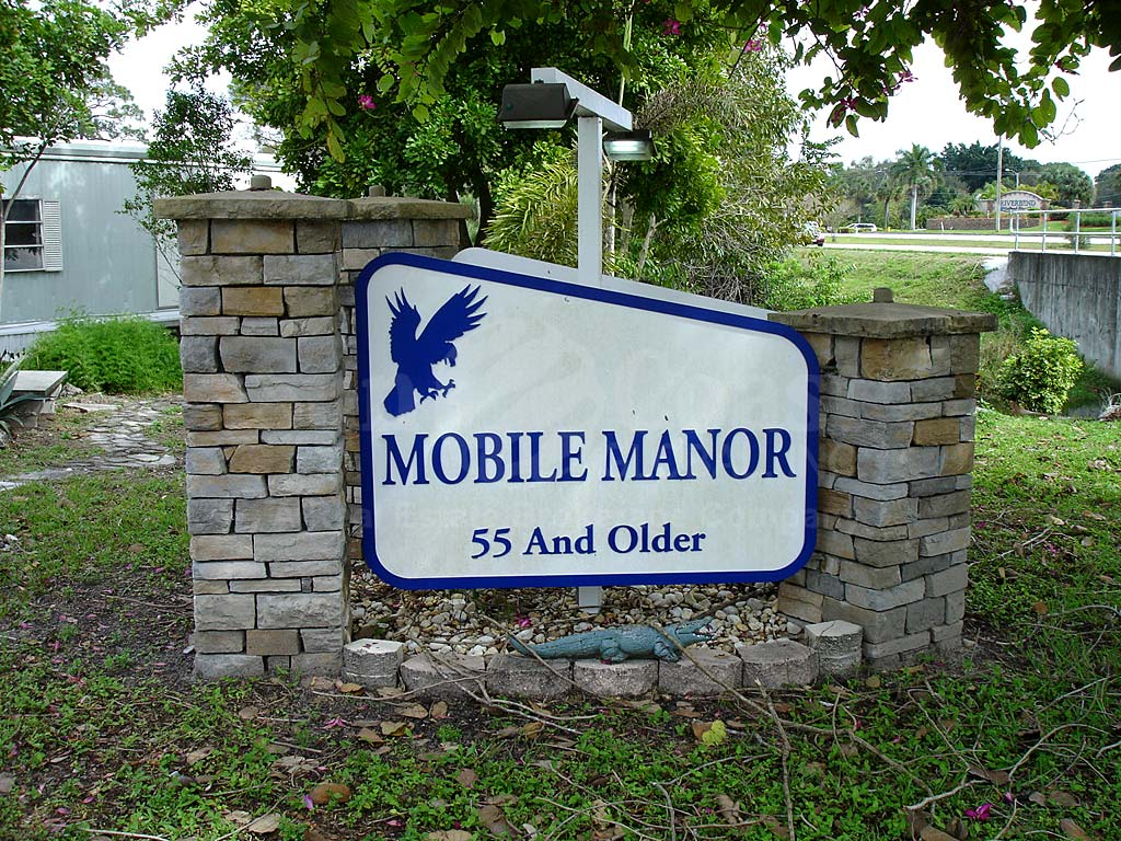 Mobile Manor Signage