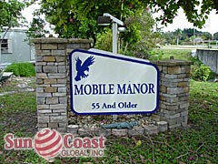 Mobile Manor Community Sign