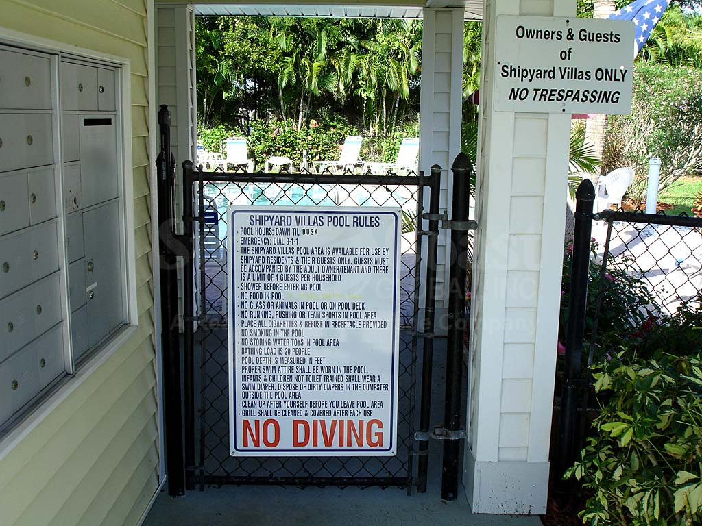 Shipyard Villas Community Pool Safety Fence