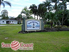 Yacht Club Colony Community Sign