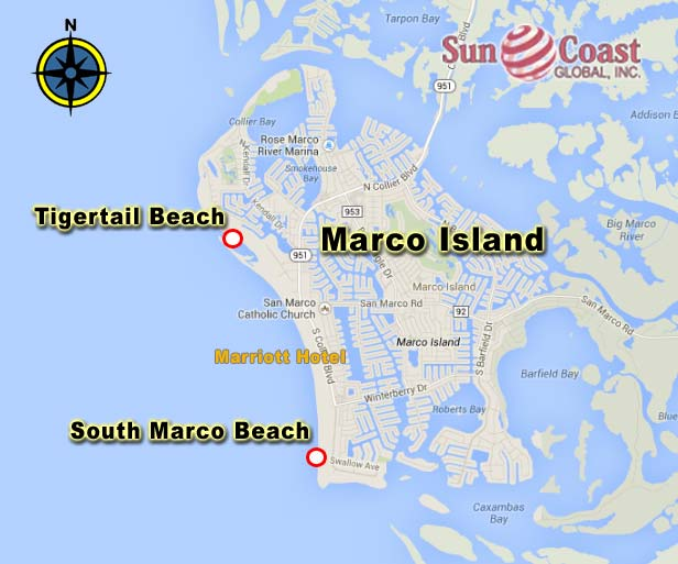 Map of Marco, Collier County, Florida - road map ...