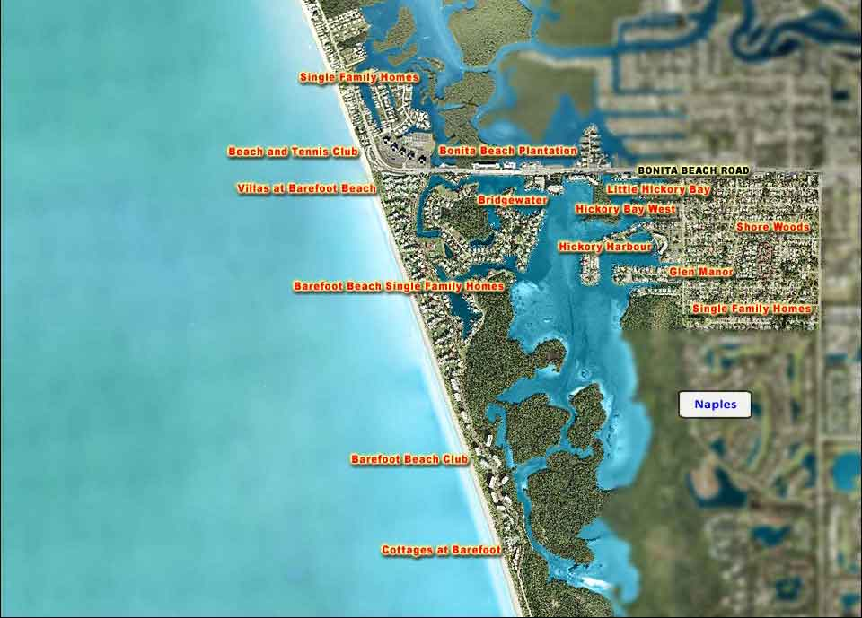 Bonita Beach Overhead Map