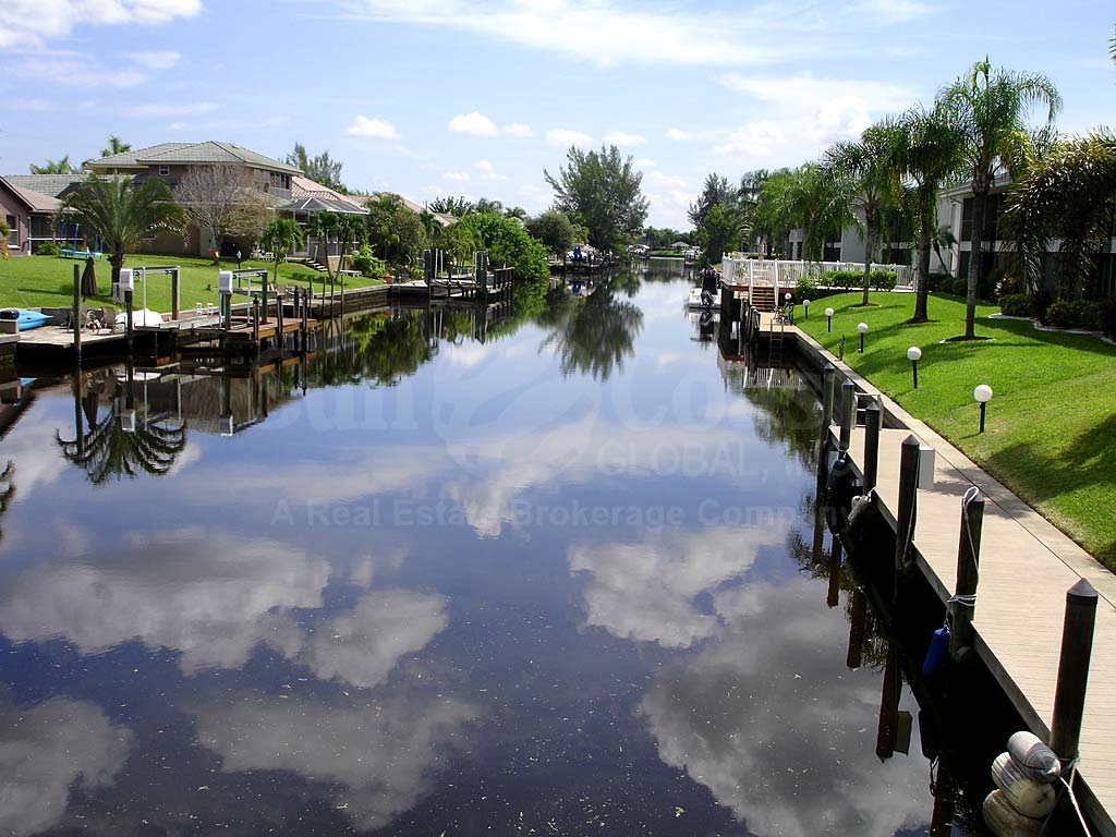 View Down the Canal in South East Cape Coral
