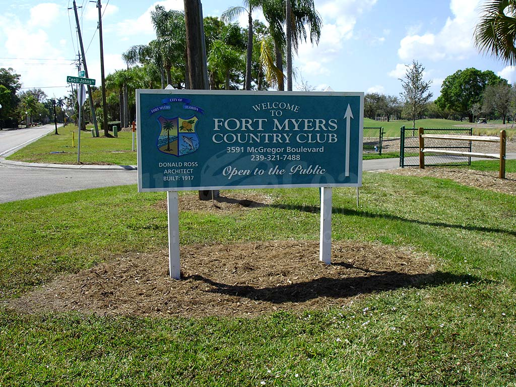 Fort Myers Downtown Area Signage