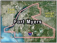 Fort Myers Florida Map.Fort Myers Lakes Park Area Real Estate Fort Myers Florida Fla Fl